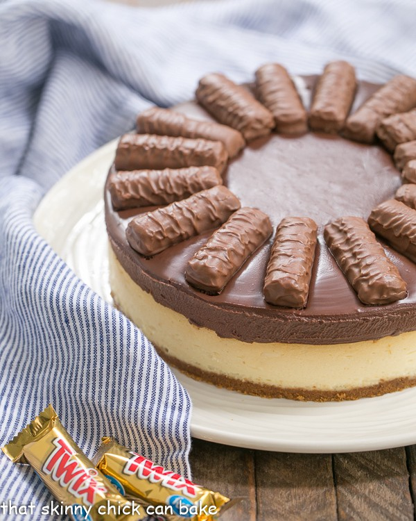 Chocolate Caramel Twix Cheesecake That Skinny Chick Can Bake