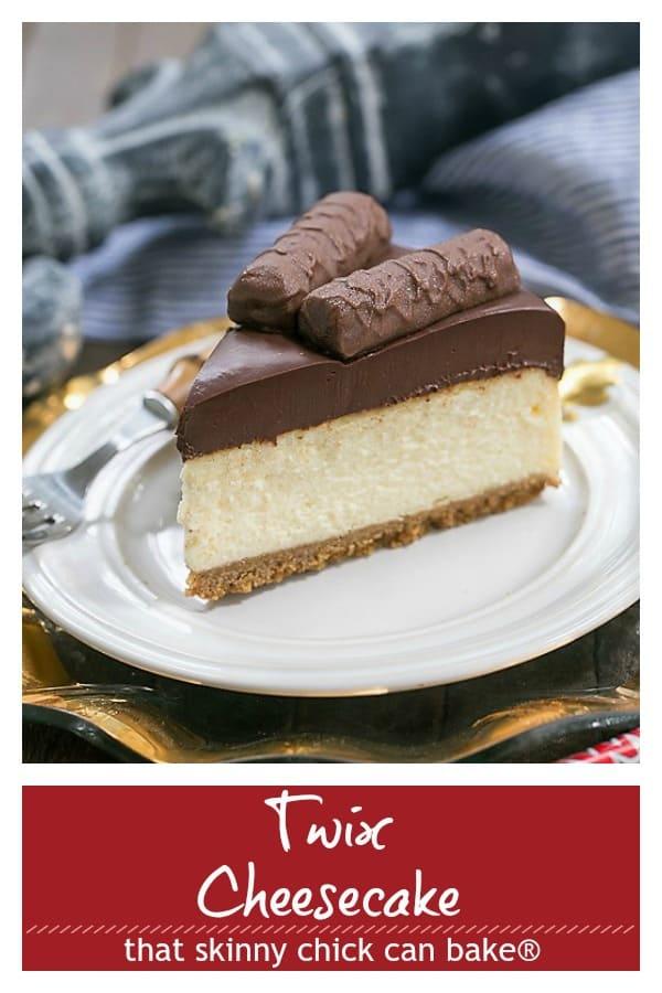 Twix Cheesecake Pinterest image