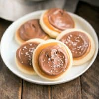 Chocolate Caramel Shortbread Cookies featured image