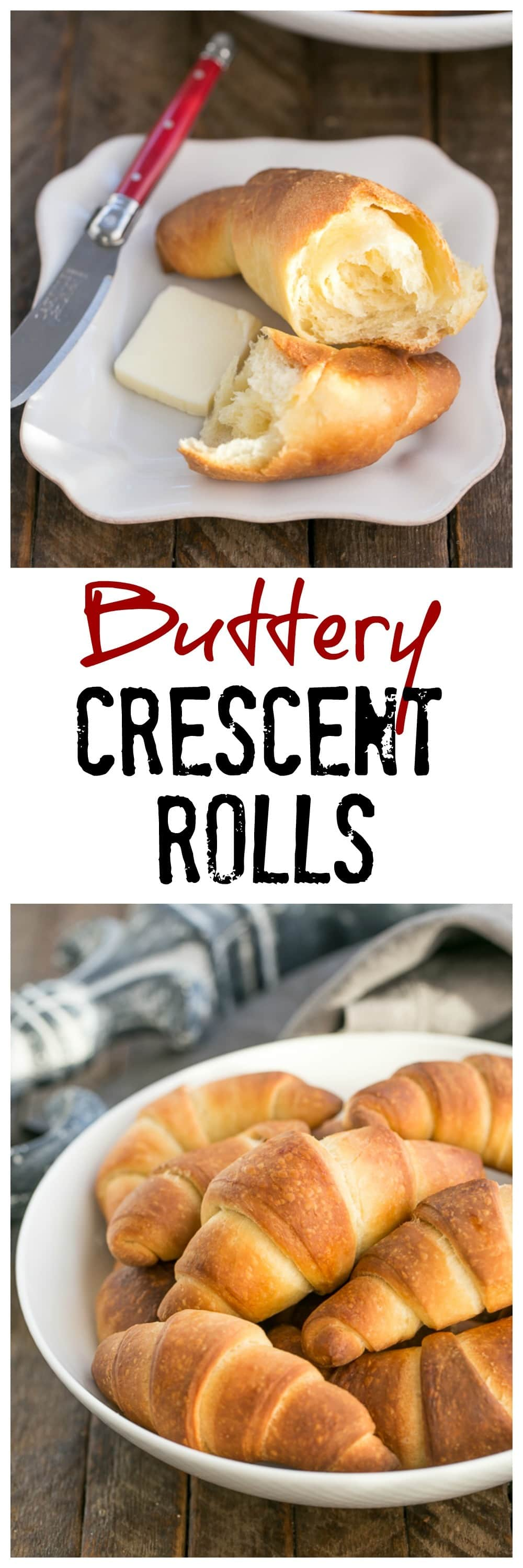 Buttery Homemade Crescent Rolls | Tender, flaky yeast rolls!