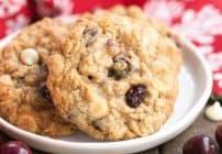 Gingered Cranberry Oatmeal Cookies #FBLCookieExchange #Giveaway