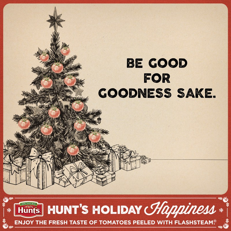 Hunt's Holiday Card