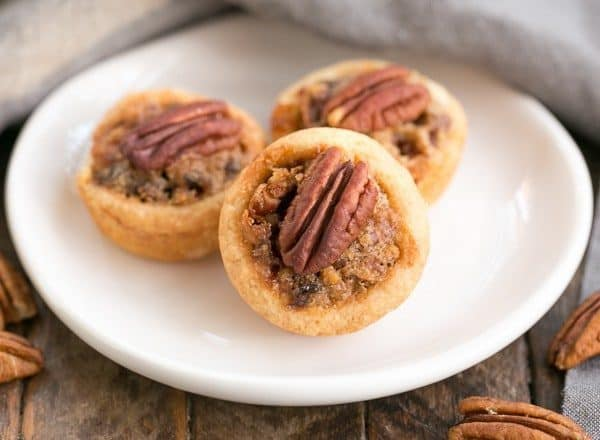 Pecan Tassies | Mini Pecan Pies in cream cheese pastry crusts