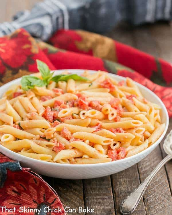 Penne alla Vodka | A simple, comforting pasta dish with tomatoes, cream and vodka!