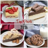 Collage of 4 top recipes of 2016