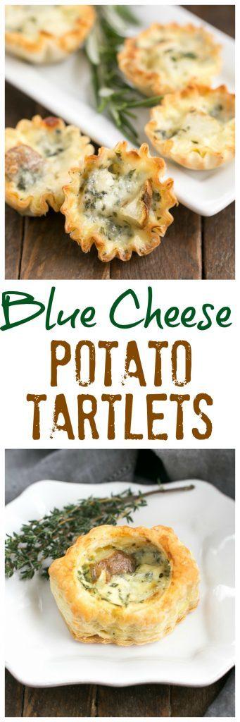 Potato Blue Cheese Tartlets #SundaySupper #GameDayIdahoPotatoes - That ...
