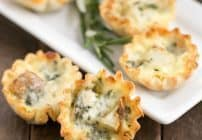 Potato Blue Cheese Tartlets #SundaySupper #GameDayIdahoPotatoes