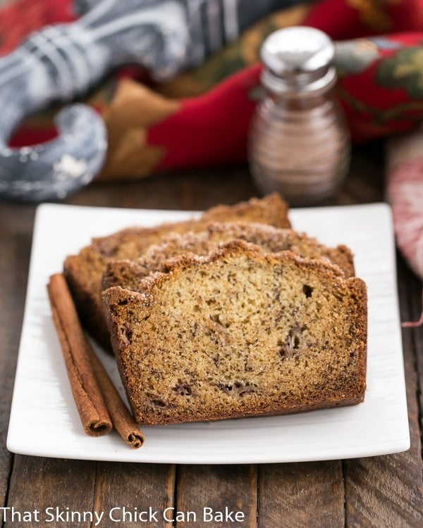 Cinnamon topped banana bread that skinny chick can bake cinnamon topped banana bread forumfinder Image collections