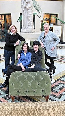 Girlfriends on weekend trip to French Lick, Indiana with neighbors