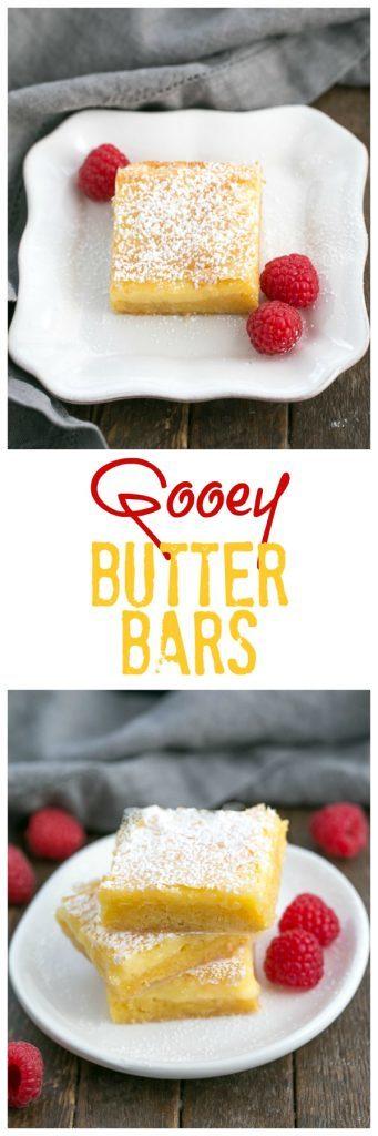 photo collage of Gooey Butter Bars dessert