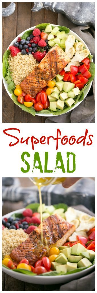 Superfoods Salad photo collage