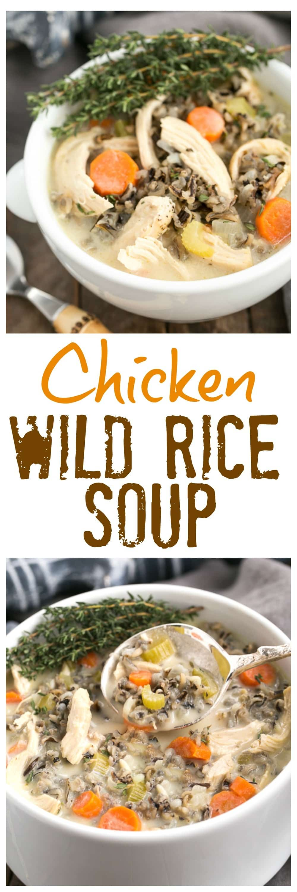 Chicken and Wild Rice Soup photo collage