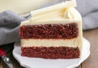 Cheesecake Filled Red Velvet Cake #TwoSweetiePies