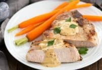 Pork Chops Dijonnaise | Incredibly delicious pan seared chops with a creamy mustard sauce