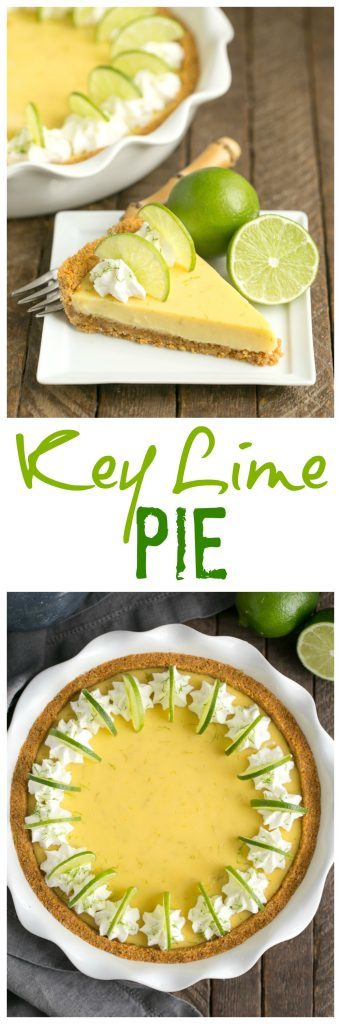Key Lime Pie with Graham Cracker Crust collage
