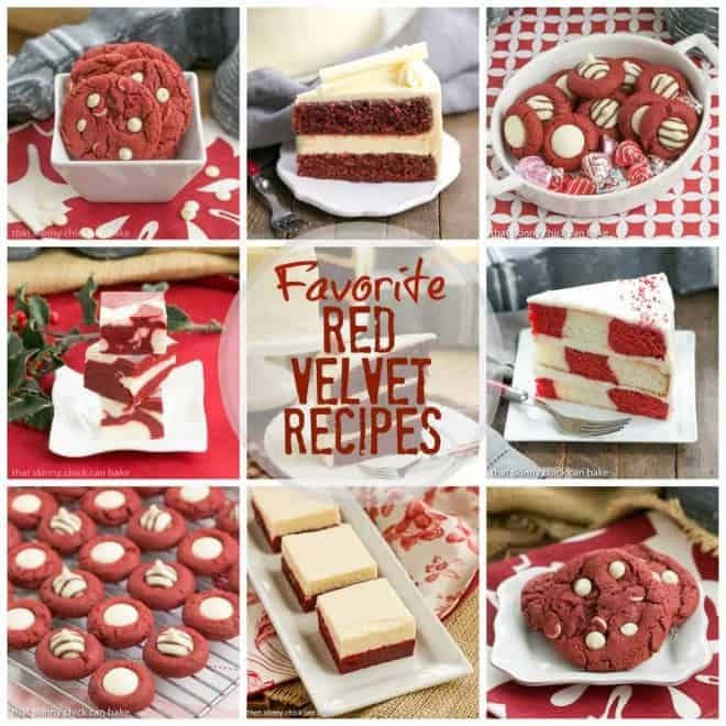 Favorite Red Velvet Recipes phpto collage