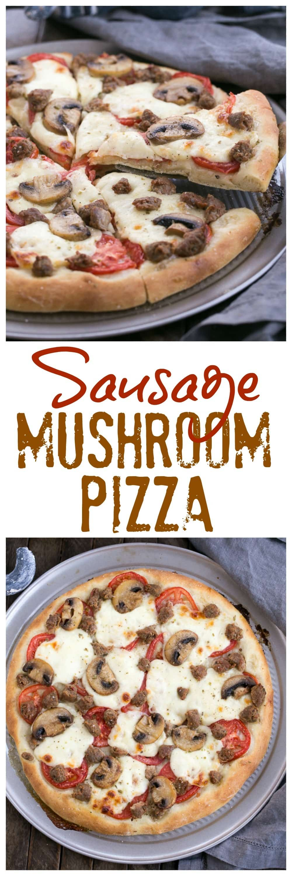 Homemade Sausage Mushroom Pizza That Skinny Chick Can Bake