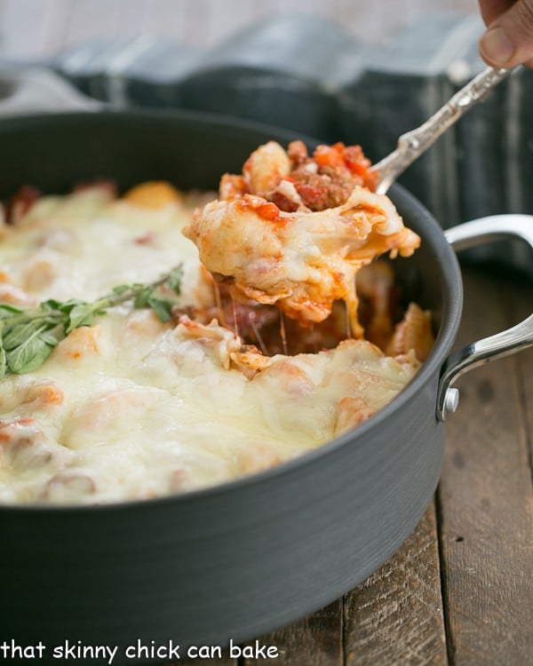 Cavatini Supreme Recipe | A family friendly meaty pasta dish topped with oodles of cheese!