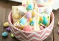Easy White Chocolate Easter Bark