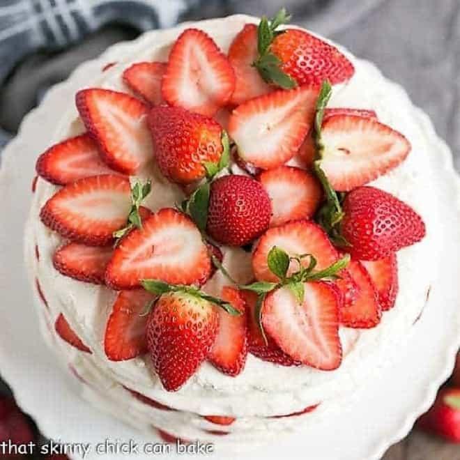 Fresh Strawberry Meringue Cake Featured image