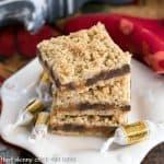 Oatmeal Caramel Bars Recipe #NationalCaramelDay