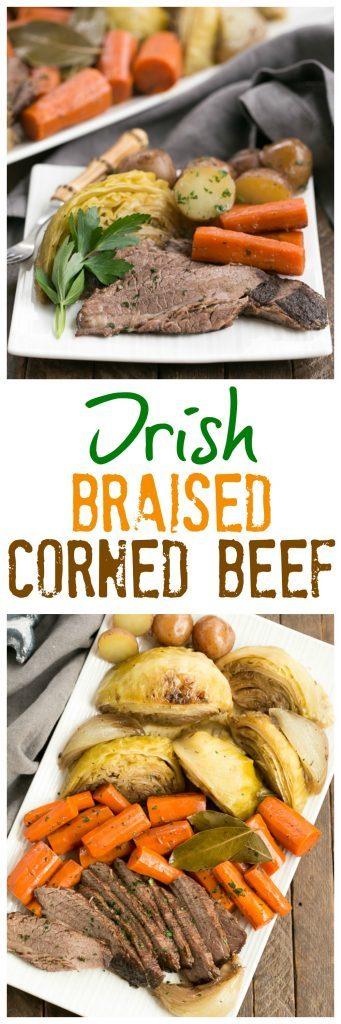 Irish Braised Corned Beef Brisket photo collage