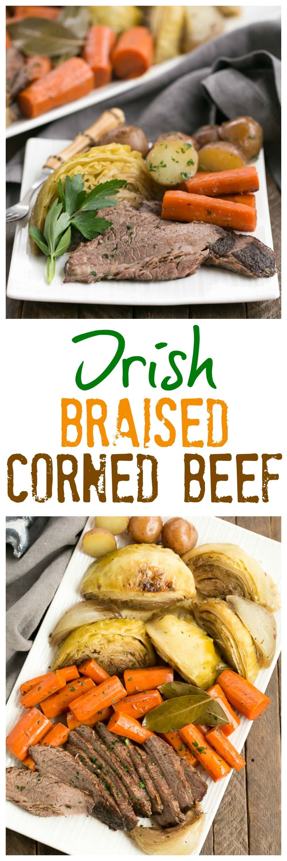 Irish Braised Corned Beef And Cabbage That Skinny Chick