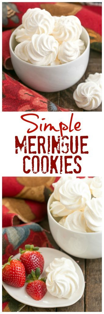 Simple Meringue Cookies | Sweet, ethereal, melt in your mouth cookies