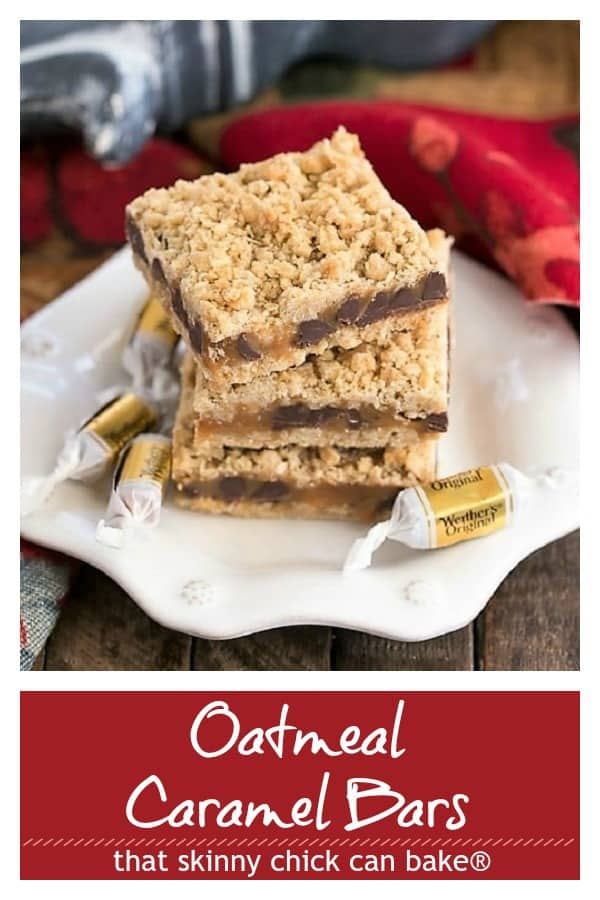 Oatmeal Caramel Bars pinterest collage