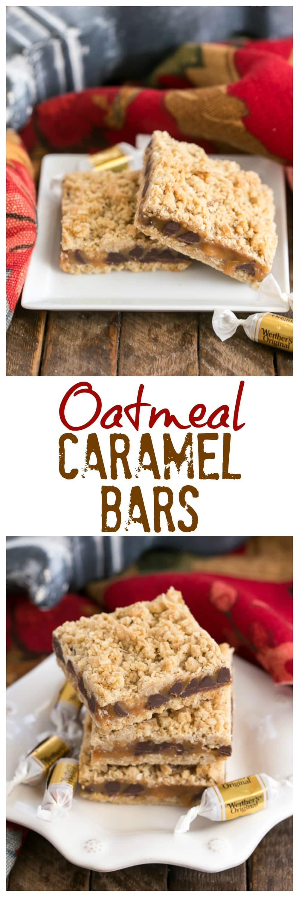 OatmealCaramel Barshave an oat crust and oat streusel sandwiching a gooey layer of both caramel and chocolate. This easy oat bars recipe with caramel makes the perfect dessert for any occasion! #caramel #dessert #oatmeal