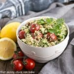 Quinoa Tabbouleh Recipe #SundaySupper