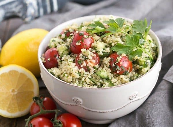 Qunioa Tabbouleh | A Middle Eastern Salad updated with quinoa