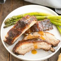 Apricot Glazed Baby Back Ribs | Spicy, sweet, sticky and irresistible!