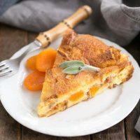 Apricot Prosciutto Strata - A fabulous, make ahead breakfast casserole!