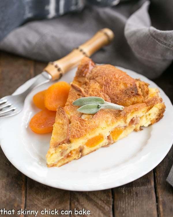 Apricot Prosciutto Strata   A fabulous, make ahead breakfast casserole!