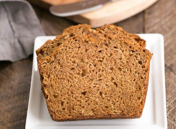Brown Sugar Apple Bread Recipe | Moist, tender apple quick bread with a drizzle of vanilla icing