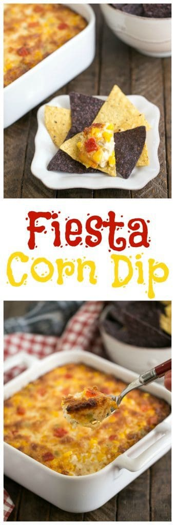 Fiesta Corn Dip | With a double dose of gooey cheese, you'll want to serve this magnificent dip at every gathering!
