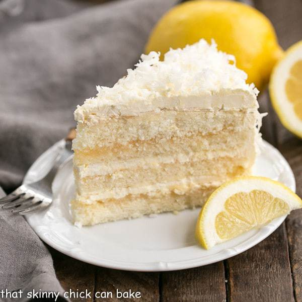Vanilla Cake With Lemon Curd Filling