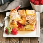 Raspberry Mascarpone French Toast Casserole #SundaySupper