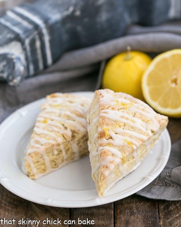 Glazed Lemon Tea Scones | A citrus infused scone enhanced by English breakfast tea
