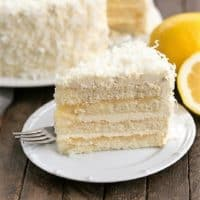 Lemon Layer Cake with Lemon Curd Filling featured image