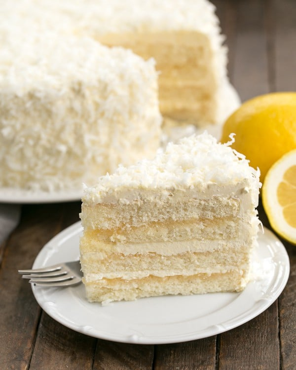 Lemon Layer Cake with Lemon Curd Filling - That Skinny ...