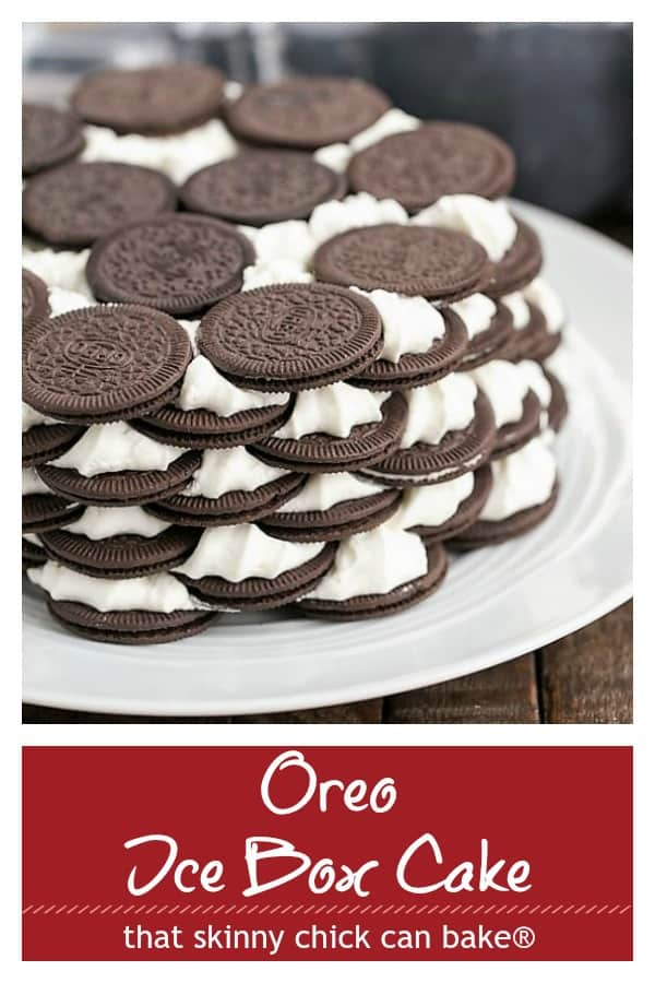 Oreo Ice Box Cake Pin collage