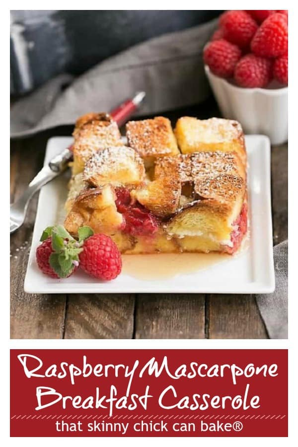 Raspberry Mascarpone French Toast Casserole Pinterest collage