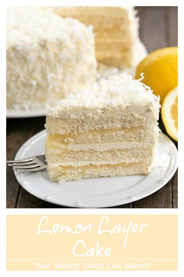 Lemon Layer Cake with Lemon Curd Filling Pinterest collage