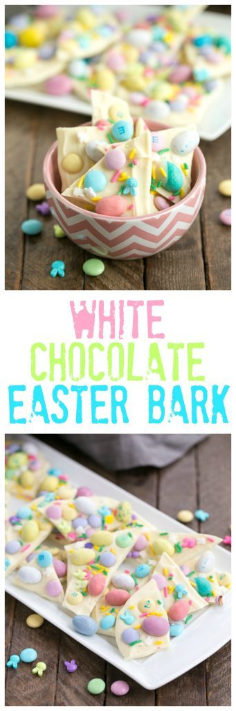 Easy White Chocolate Easter Bark | White Chocolate Bark is a spectacular holiday or anytime treat that's ready in no time flat!