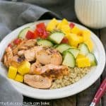 Caribbean Salmon Quinoa Salad #BalancedBites