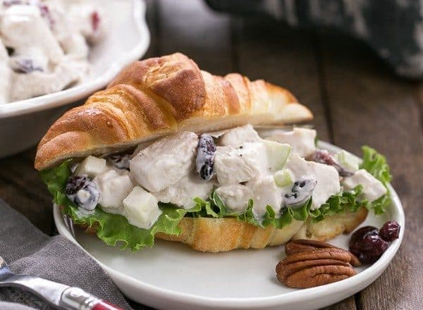 Cranberry Pecan Chicken Salad for a Crowd | Perfect for showers, luncheons and more!
