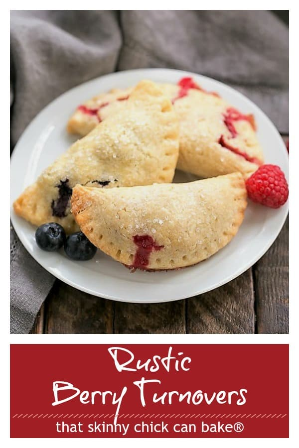 Rustic Berry Turnovers Pinterest collage