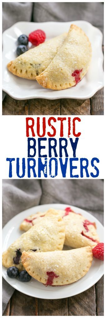 Rustic Berry Turnovers | Buttery crusts + sweetened berries make these fabulous hand pies!